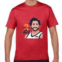 Utah Jazz Ricky Rubio Spanish Golden Boy Men Basketball Jersey Tee Shirts Fashion Man Funny Cartoon 2