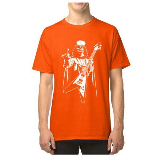 Vader Rocks Tops TShirt Men Punk Star Wars Bass Guitar Player Gift T shirt Darth Funny 1