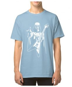 Vader Rocks Tops TShirt Men Punk Star Wars Bass Guitar Player Gift T shirt Darth Funny 3