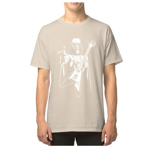 Vader Rocks Tops TShirt Men Punk Star Wars Bass Guitar Player Gift T shirt Darth Funny 5
