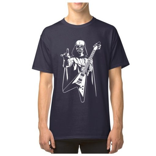 Vader Rocks Tops TShirt Men Punk Star Wars Bass Guitar Player Gift T shirt Darth Funny