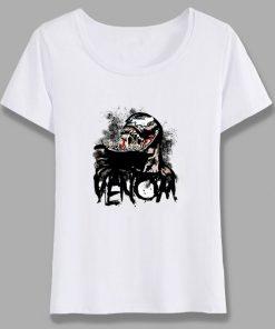 Venom Spiderman Black And White Marvel Badass T Shirt Women Tee Girl Cool Summer T shirt 2
