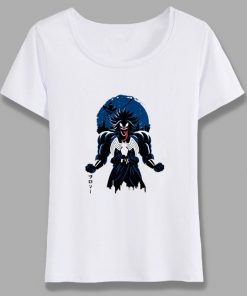 Venom Spiderman Black And White Marvel Badass T Shirt Women Tee Girl Cool Summer T shirt