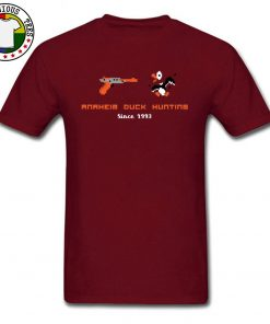 VideoGame Arcade Anaheim Duck Hunting Funny T Shirts Custom Cartoon Print New Tee Shirts Men Gunner 3