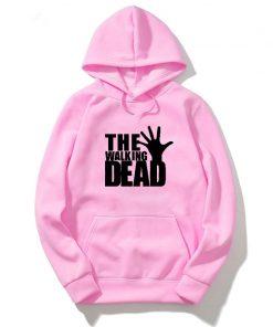 Walking Dead Hoodies Women Hoodies Streetwear Sweatshirt Harajuku Pullover Pink Clothing Oversized Hoodie Men Long Sleeve 2