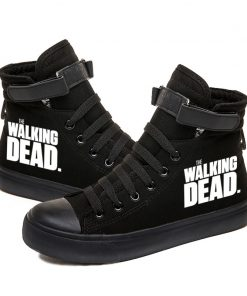 Walking Dead Luminous Women Men Sneakers Canvas Shoes For Youth Boys and Girls Casual Shoes Breathable 1