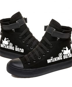 Walking Dead Luminous Women Men Sneakers Canvas Shoes For Youth Boys and Girls Casual Shoes Breathable 2