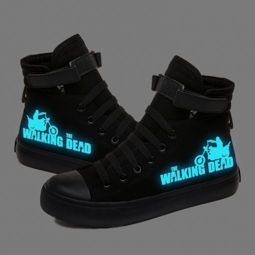 Walking Dead Luminous Women Men Sneakers Canvas Shoes For Youth Boys and Girls Casual Shoes Breathable 3