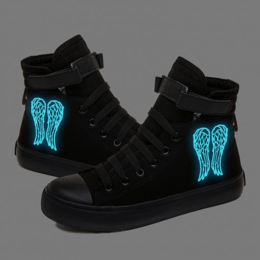 Walking Dead Luminous Women Men Sneakers Canvas Shoes For Youth Boys and Girls Casual Shoes Breathable 5