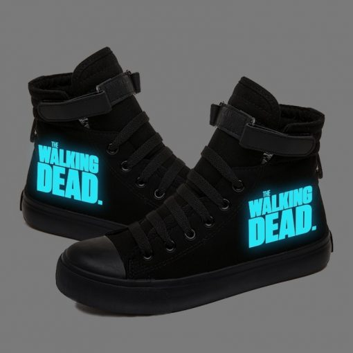 Walking Dead Luminous Women Men Sneakers Canvas Shoes For Youth Boys and Girls Casual Shoes Breathable