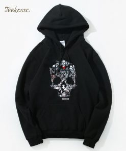 Walking Dead Skull Montage Hoodie Hoodies Sweatshirt Men 2018 New Winter Autumn Hooded Hoody Hip Hop 1