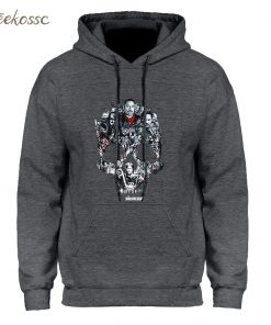 Walking Dead Skull Montage Hoodie Hoodies Sweatshirt Men 2018 New Winter Autumn Hooded Hoody Hip Hop