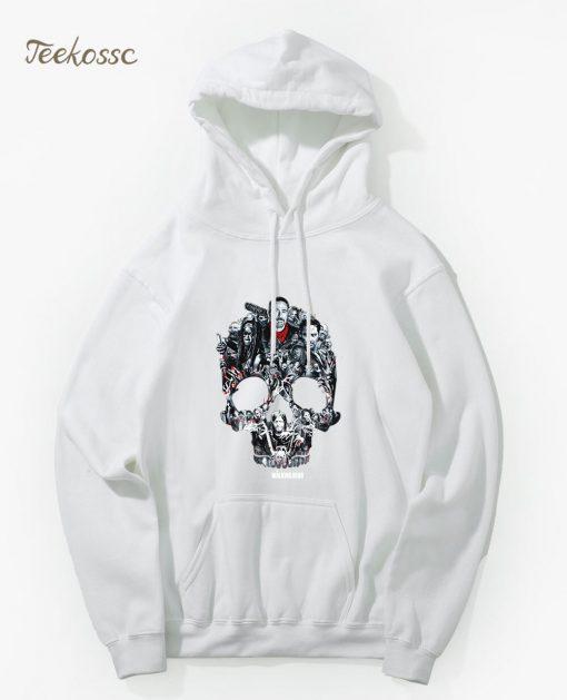 Walking Dead Skull Montage Hoodie Hoodies Sweatshirt Men 2018 New Winter Autumn Hooded Hoody Hip Hop 5