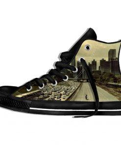 Walking Dead Sneakers 3d Wen Casual shoes Streetwear Hip Hop Funny Shoes Summer Fashion 2019 New 4
