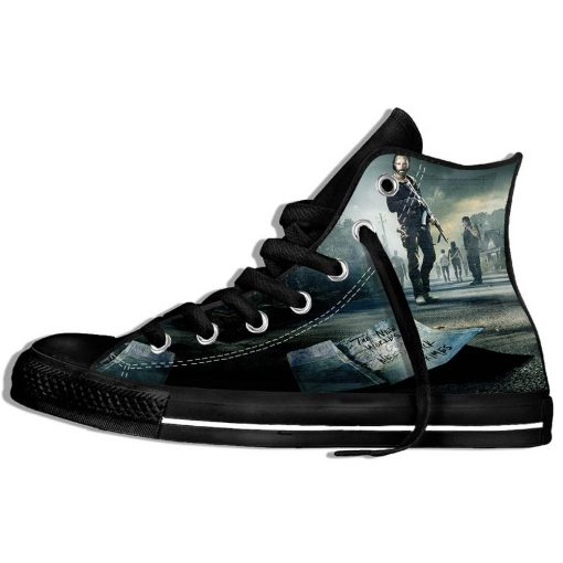 Walking Dead Sneakers 3d Wen Casual shoes Streetwear Hip Hop Funny Shoes Summer Fashion 2019 New