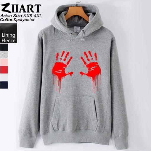 Walking Dead Zombie Bloody Hand Man Boys Hoodie Couple Clothes Autumn Winter Fleece ZIIART 1