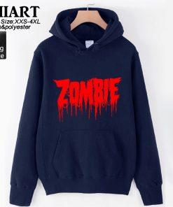 Walking Dead Zombie Bloody Hand Man Boys Hoodie Couple Clothes Autumn Winter Fleece ZIIART 2