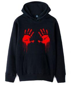 Walking Dead Zombie Bloody Hand Man Boys Hoodie Couple Clothes Autumn Winter Fleece ZIIART