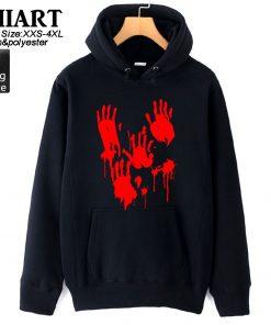 Walking Dead Zombie Bloody Hand Man Boys Hoodie Couple Clothes Autumn Winter Fleece ZIIART 4