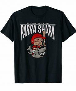 Washington Parra Shark Nationals Shark Week Baseball Black T Shirt For Fans Fashion Classic Tee Shirt