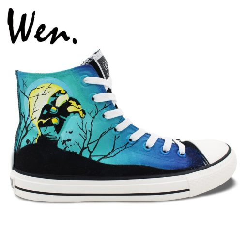 Wen Design Custom Hand Painted Shoes Men Women s Sneakers Walking Dead Painted High Top Canvas 1