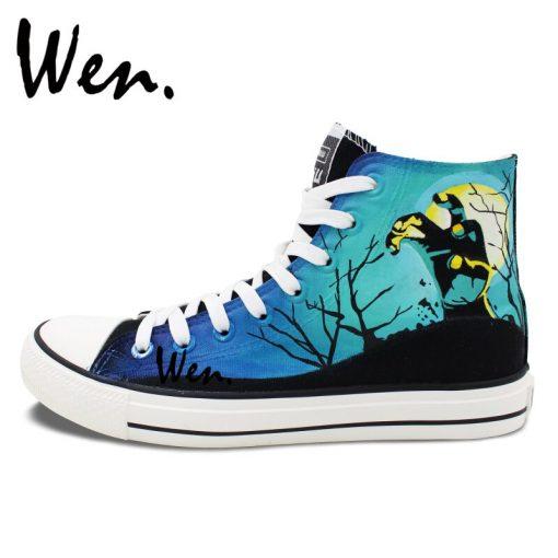 Wen Design Custom Hand Painted Shoes Men Women s Sneakers Walking Dead Painted High Top Canvas 2