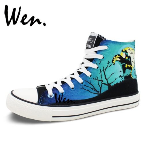 Wen Design Custom Hand Painted Shoes Men Women s Sneakers Walking Dead Painted High Top Canvas 3