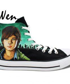 Wen Design Custom Hand Painted Sneakers Walking Dead Men Women s High Top Canvas Shoes for 1