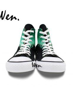 Wen Design Custom Hand Painted Sneakers Walking Dead Men Women s High Top Canvas Shoes for 4