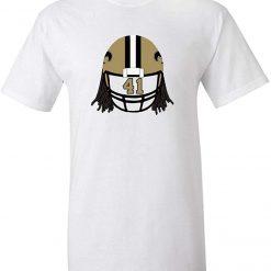 White New Orleans Kamara Helmet T Shirt Men Women Summer Style Tops TEE Shirt
