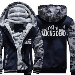 Winter Hoodies For Men 2018 New Arrival Camouflage Sweatshirt Thick Fleece Hoody WALKING DEAD Punk Streetwear 1