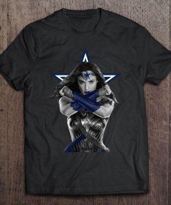 Wonder Woman And Dallas Print T Shirt Short Sleeve O Neck Cowboys Tshirts