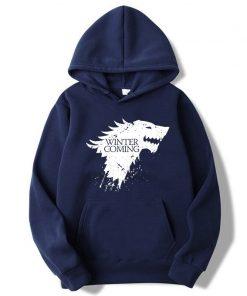 XIN YI Fashion Brand Men s Hoodie Blend Cotton Game of Thrones printing Tops men Hoodies 1