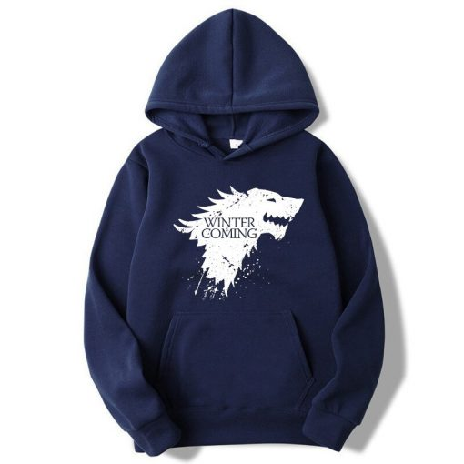XIN YI Fashion Brand Men s Hoodie Blend Cotton Game of Thrones printing Tops men Hoodies 1