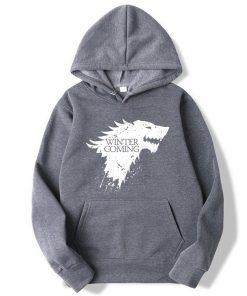 XIN YI Fashion Brand Men s Hoodie Blend Cotton Game of Thrones printing Tops men Hoodies 2