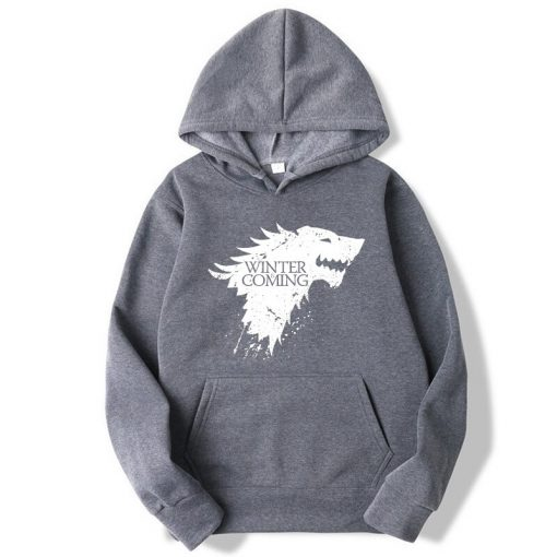 XIN YI Fashion Brand Men s Hoodie Blend Cotton Game of Thrones printing Tops men Hoodies 2