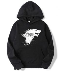 XIN YI Fashion Brand Men s Hoodie Blend Cotton Game of Thrones printing Tops men Hoodies
