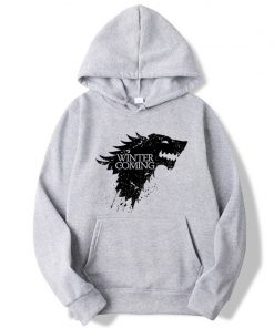 XIN YI Fashion Brand Men s Hoodie Blend Cotton Game of Thrones printing Tops men Hoodies 4