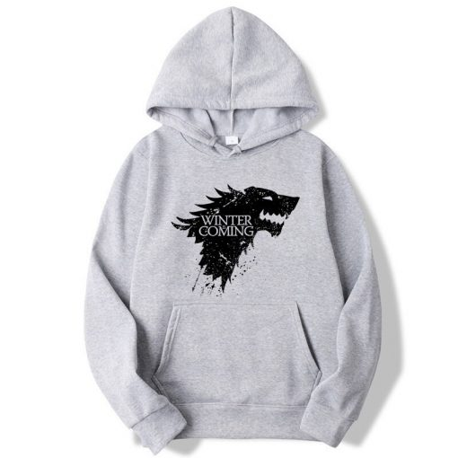 XIN YI Fashion Brand Men s Hoodie Blend Cotton Game of Thrones printing Tops men Hoodies 4