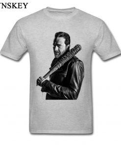 XXXL T shirt Winter Coming The Walking Dead Negan Men Tops Tees Cool Black Punk T 1