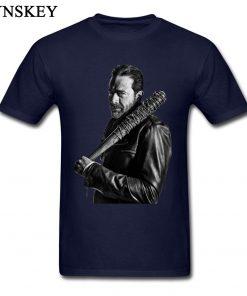 XXXL T shirt Winter Coming The Walking Dead Negan Men Tops Tees Cool Black Punk T 2
