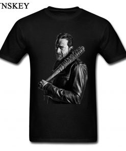 XXXL T shirt Winter Coming The Walking Dead Negan Men Tops Tees Cool Black Punk T