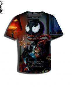 YOJULY 3D Print Superhero Venom Spiderman Kids Children Casual Tshirt Summer T shirt Boys Girls Youth 1