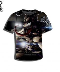 YOJULY 3D Print Superhero Venom Spiderman Kids Children Casual Tshirt Summer T shirt Boys Girls Youth 2