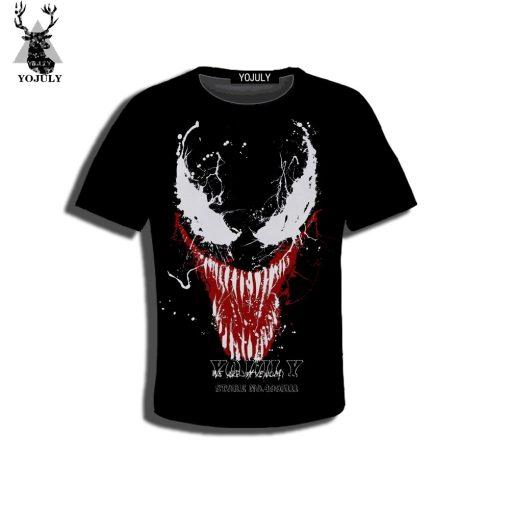 YOJULY 3D Print Superhero Venom Spiderman Kids Children Casual Tshirt Summer T shirt Boys Girls Youth