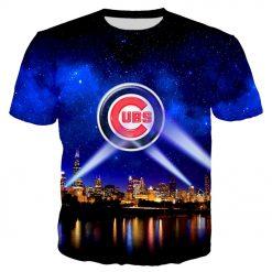 YX Girl 2019 Summer Unisex Tops Tees Chicago Cubs Tshirt For Men Women Short Sleeve O
