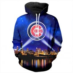 YX Girl 7XL Mens 3d Print Chicago Cubs Hoodie Men Women Hooded Sweatshirt Autumn Thin Pullover