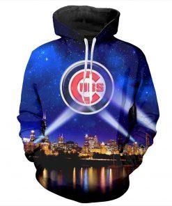 YX Girl 7XL Mens 3d Print Chicago Cubs Hoodie Men Women Hooded Sweatshirt Autumn Thin Pullover