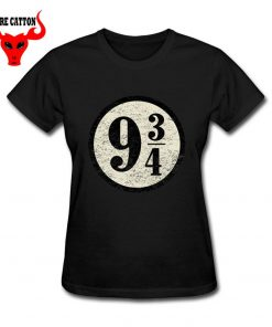 Young girl clothing Pulp Fiction Harry T shirts women maid Platform nine and three quarters T 2