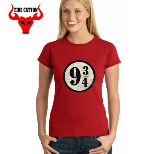 Young girl clothing Pulp Fiction Harry T shirts women maid Platform nine and three quarters T